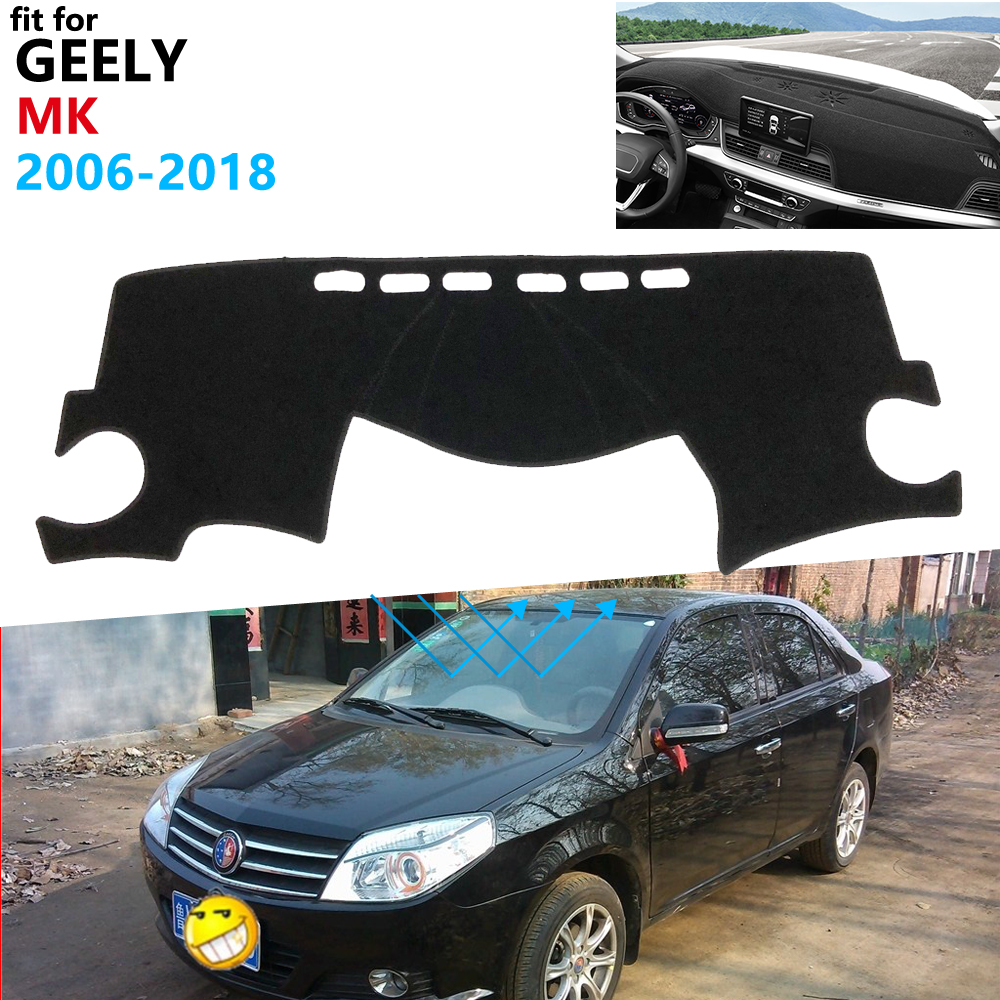 Dashboard Cover Protective Pad For Geely MK LG 2006~2018 EC6 Car Accessories Sunshade Carpet Englon Jinying 2009 2010 2011 2012