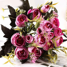 8 Heads Beautiful Simulation Rose Bouquet Elegant Colorfull Buds Artificial Peony Silk Flower Home Wedding Party Decor NEW