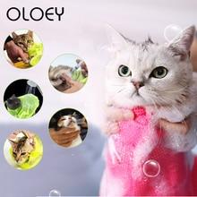 Pet Cat Grooming Bag Multifunctional Adjustable Washing Shower Mesh Bags for Dog Bathing Nail Anti Scratch Bite