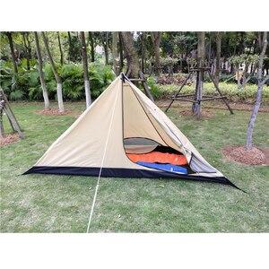 Image 3 - Namiot piramidowy z otworem kominowym/wieżowy namiot okienny namiot parkowy dwuwarstwowy namiot polowy zawiera pół namiotu wewnętrznego