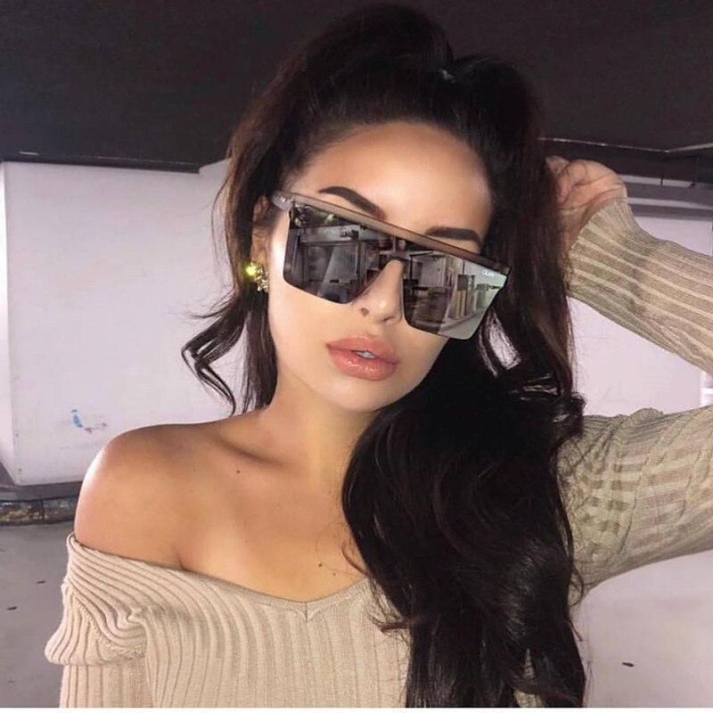 15 colores de gafas de sol planas para hombre y mujer gafas de sol cuadradas de diseñador gafas de sol de gradiente para hombre de una sola pieza UV400 espejo