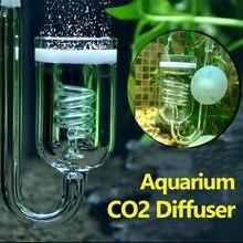 1pc tanque de vidro difusor do co2 do aquário bolha atomizador regulador solenóide reator musgo atomizador co2 para 60 300300l plantas