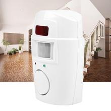 Wireless Infrared Motion Sensor Home Security Alarm System PIR Motion Detector Alarm with Remote Controls for Home Garage цена 2017
