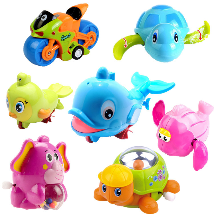 Multi--Children Baby Bath Play With Water Cool Swim Little Turtle Toy Spring-Winding Little Turtle Porpoise Yu