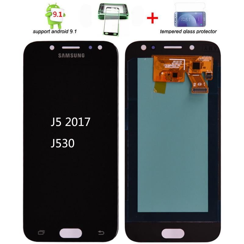Super Amoled Para Samsung Galaxy J5 2017 J530 J530F LCD Display Touch Montagem Digitador Da Tela de lcd para J5 Pro 2017 j5 Duos