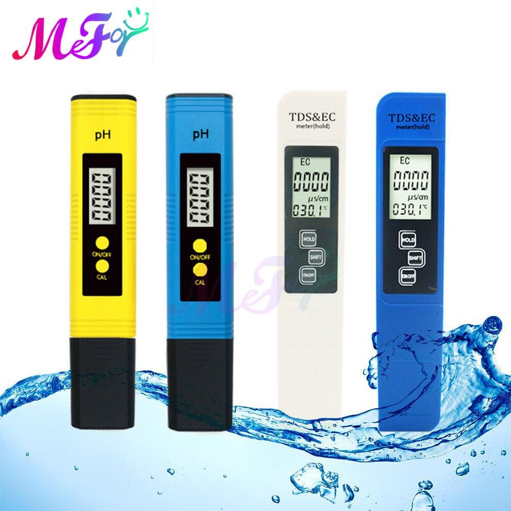 2pcs Portable Digital PH Meter 0.00 14.0 PH Tester TDS&EC Meter Thermometer 0 9999ppm 0.1 80.0degree Water Qualit Monitor PH Meters  - AliExpress