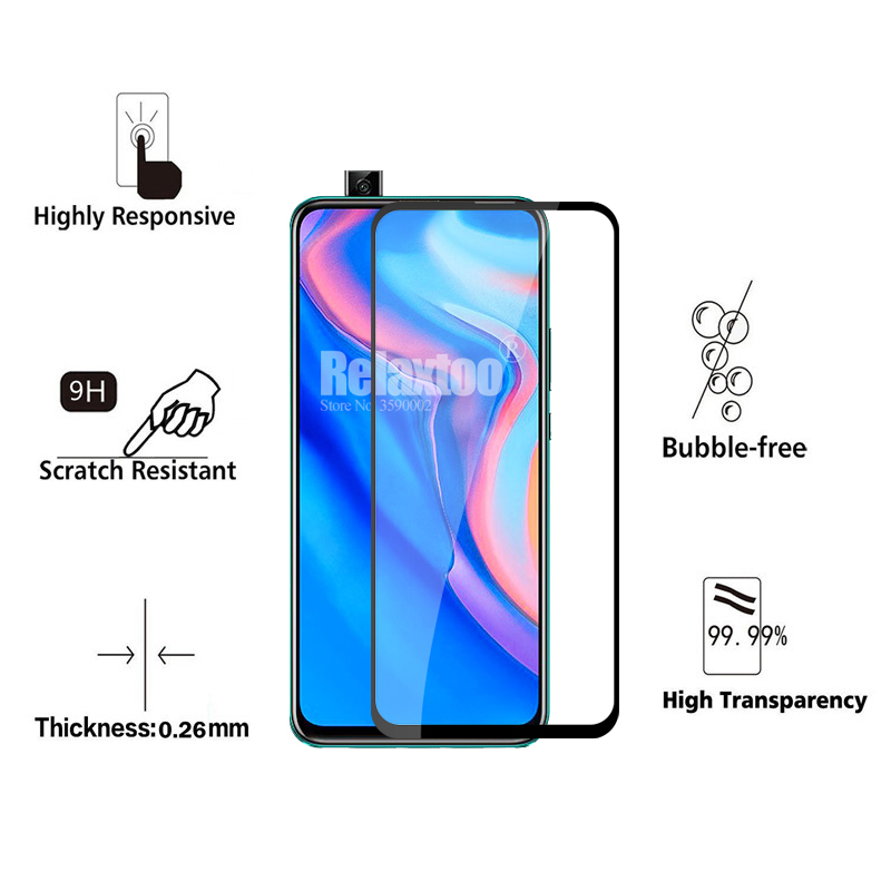 2 in 1 protective Glass For huawei p smart Z tempered Glass on hauwei p smart 2019 psmart Z STK-LX1 camera lens protector Film 2