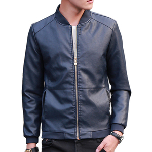 Image 2 - 2019 Autumn Winter Mens Leather Coat Korean Slim Fit Leather Jackets Size M 4XL Fashion Casual Outwear for Man Jacket