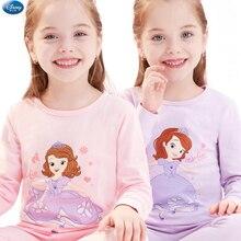 Original Disney Princess Sophia Children's Cotton Pajama Set Toddler Underwear Girls Set