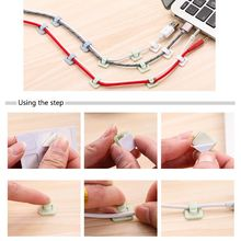 18Pcs Self-adhesive Wire Tie Cable Mount Clamp Clip Car USB Cable Sticker Fixed Y98E