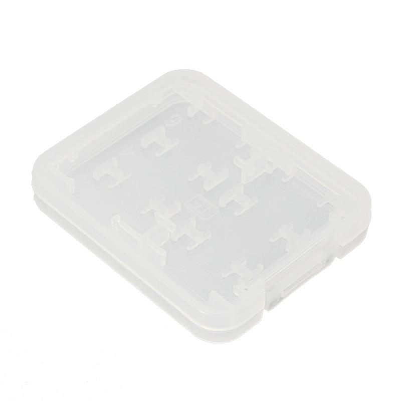 8 in 1 Plastic Micro SD SDHC TF MS Memory Card Storage Case Box Protector Holder