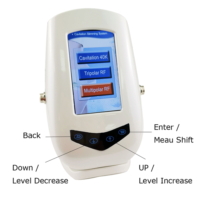 New Touch Button Control Ultrasonic 40KHz Cavitation and Multipolar RF Face Body Beauty Machine Fat Burner Body Weight Lose 1