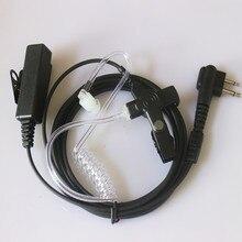 אבטחת אקוסטית אוויר צינור אפרכסת אוזניות PTT עבור נייד רדיו מוטורולה ווקי טוקי GP300 GP308 GP2000 GP3688 GP3188 GP88