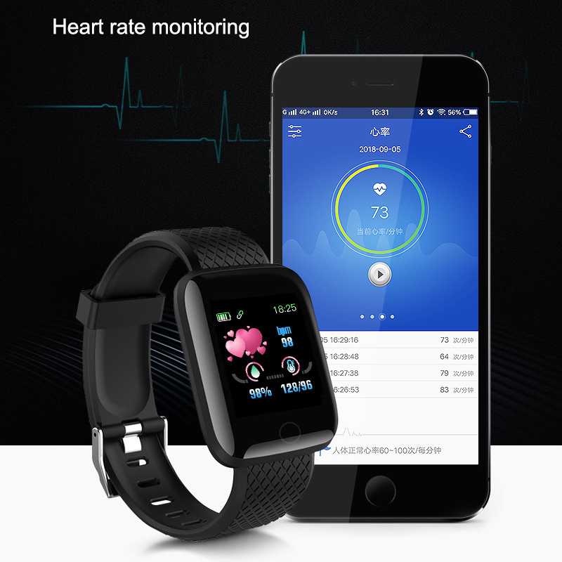 Silicone Watch Strap Comfortable Watch Strap Band For Smart Watch 116 Plus Sports Watch QJY99