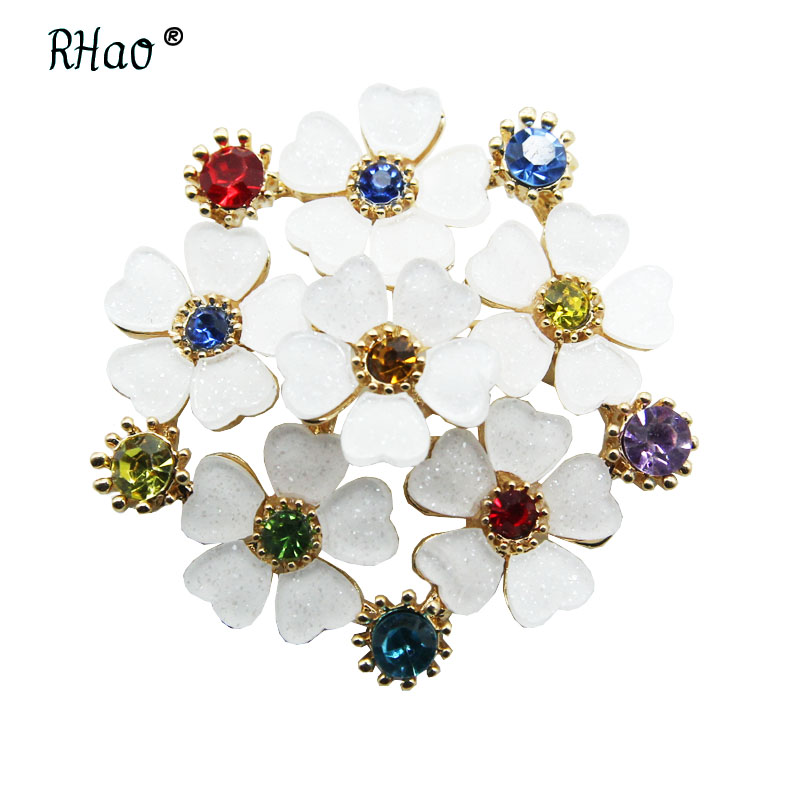 AUDIDI Brooches Pins, Fashion Exqusite Coat Dress Brooch Pin For Women AAA Cubic Zircon Corsage Jewelry Accessary Scarf Clasp,Sliver