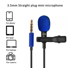 3 5mm mikrofon drutowy Mini redukcja szumów Mic dla Youtube wywiad Microfone dla telefonów komórkowych laptopy Camera Mic z klipsem tanie tanio Hangrui Lavalier Dynamiczny Mikrofon Konferencja mikrofon Pojedyncze Mikrofon Dookólna Przewodowy 18685
