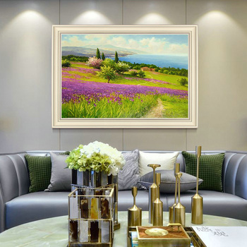 Hand-painted Oil Painting Decorative Painting The Living Room European-style Landscape Of American-style Entrance Hallway Large