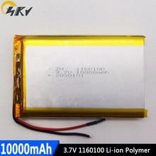 Batterie de Remplacement li-po Rechargeable, 10000 mah, 3.7 v, 1160100, pour tablette, PC, MP4