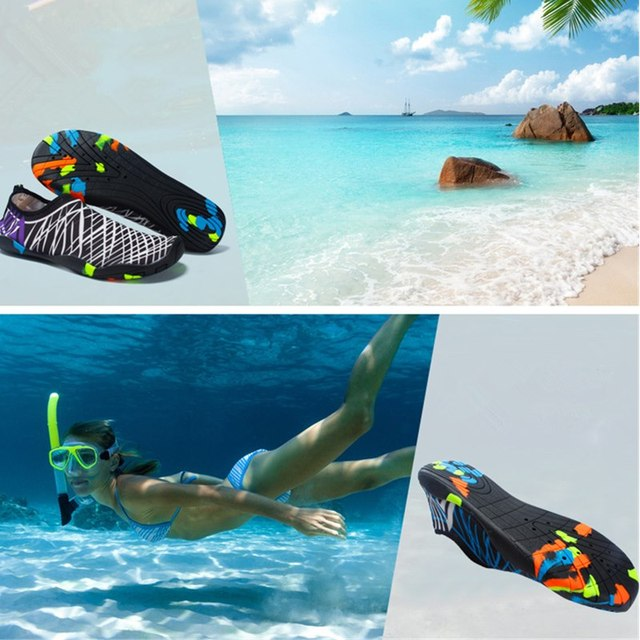 Beach Shoes Men Women Beach Shoes Aqua Shoes Sneakers Quick-Dry Swimming Footwear Unisex Outdoor Breathable Upstream. - FitnessKim