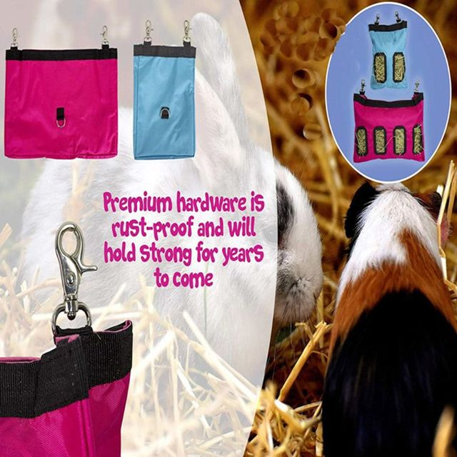 Hanging Hay Pouch For Rabbits & Guinea Pigs  3