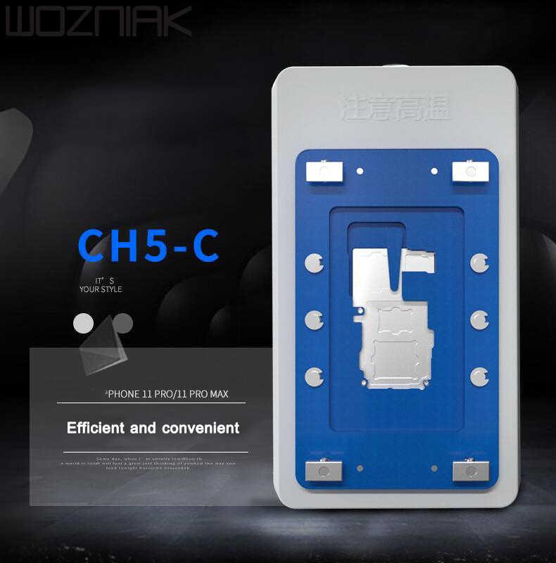 Mijing ch5 CH5-B CH5-C aquecedor de placa-mãe, pré-aquecedor para iphone 11 x xs max, ferramenta de manutenção de plataforma de soldagem da placa lógica