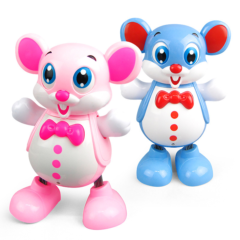 Electric Smart Dancing Robot Toy Children Kids Educational Music Light Mouse Toys Doll New Year Chirstmas Gift