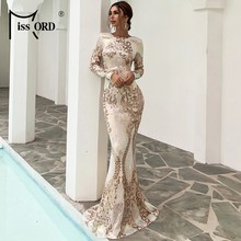 Missord – robe longue moulante à col rond pour femme, tenue de soirée Sexy, dos nu, manches longues, paillettes, Maxi, 2021, FT19747-1