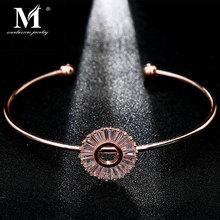 Модные роскошные стразы, циркон, многослойный браслет на запястье, высокое качество, стразы, браслет с шармом для женщин и девушек, подарок