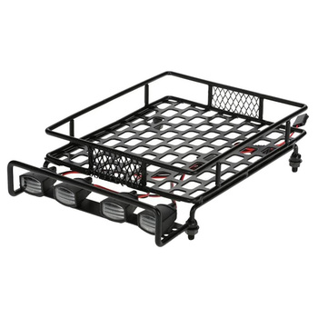 Roof Luggage Rack LED Light Bar for Wrangler Tamiya CC01 Axial SCX10 Aluminum Alloy Luggage Rack Car Roof Rack