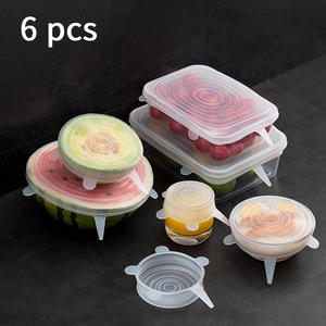 Silicone Sealed-Lids Food-Cover Vacuum-Seal Kitchen Dish Stretch Reusable Wrap-Wrap Organization-Pot