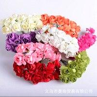 Imitação Flores Rosa Flores De Papel DIY Ameixa Pequena Caixa de Presente de Embalagens de Doces Crianças Guirlanda Acessórios Suprimentos| |   -