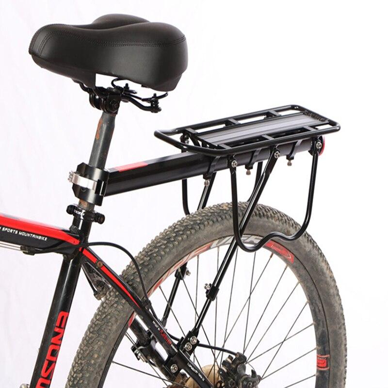 Schwarz Bike Quick Release Gepäck Fracht Sitz Post Träger Gepäckträger Fender Aluminium Legierung Rahmen Träger Halter Halterung Fahrrad JLRR