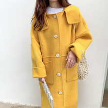 New Style of Foreign-style Double-sided Wool Cashmere Overcoat Autumn and Winter Women 2019 Long Coat