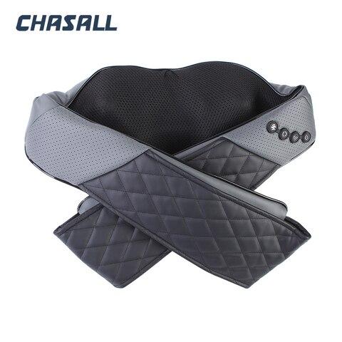 chasall pescoco massageador de aquecimento infravermelho shiatsu travesseiro dor relaxamento eletrica ombro perna corpo volta