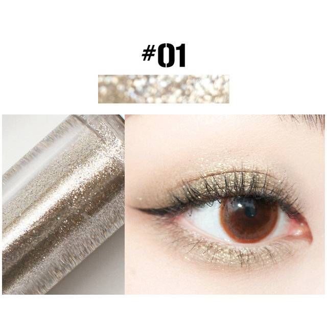 10 Colors Liquid Eye Shadow Diamond Glitter Eyeshadow Brush Pen Waterproof Long Lasting Shimmer Eye Shadow Stick Makeup Cosmetic 2