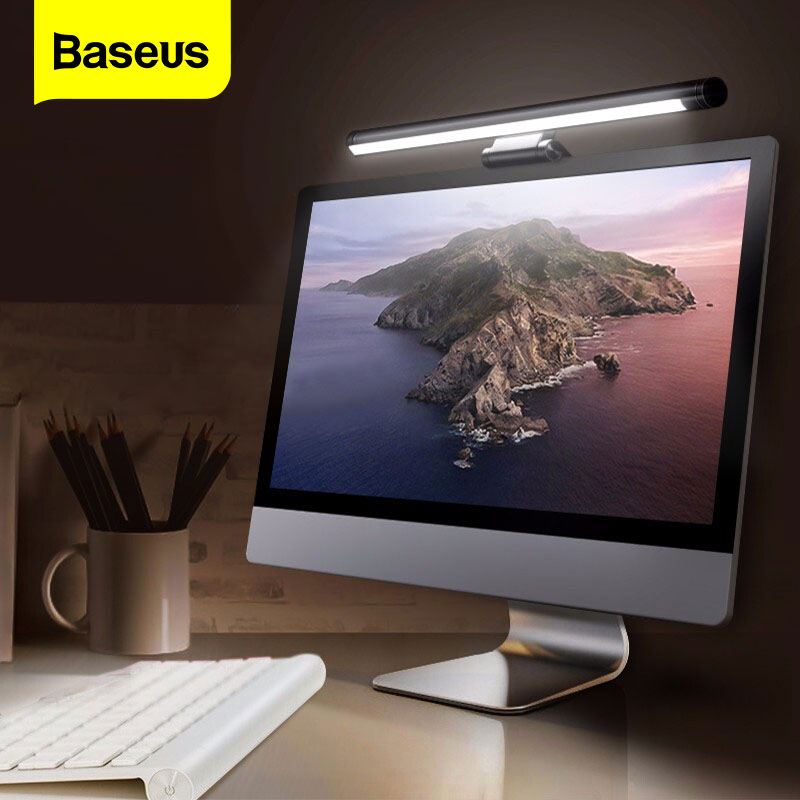 Baseus Screenbar LED Desk Lamp PC Computer Laptop Screen Bar Hanging Light Table Lamp USB Battery Reading Light For LCD Monitor