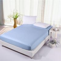 (64)100% Cotton Premium Satin Stripe Encryption Fabric Bed Sheet Four Corners With Elastic160*200cm&200*220cm