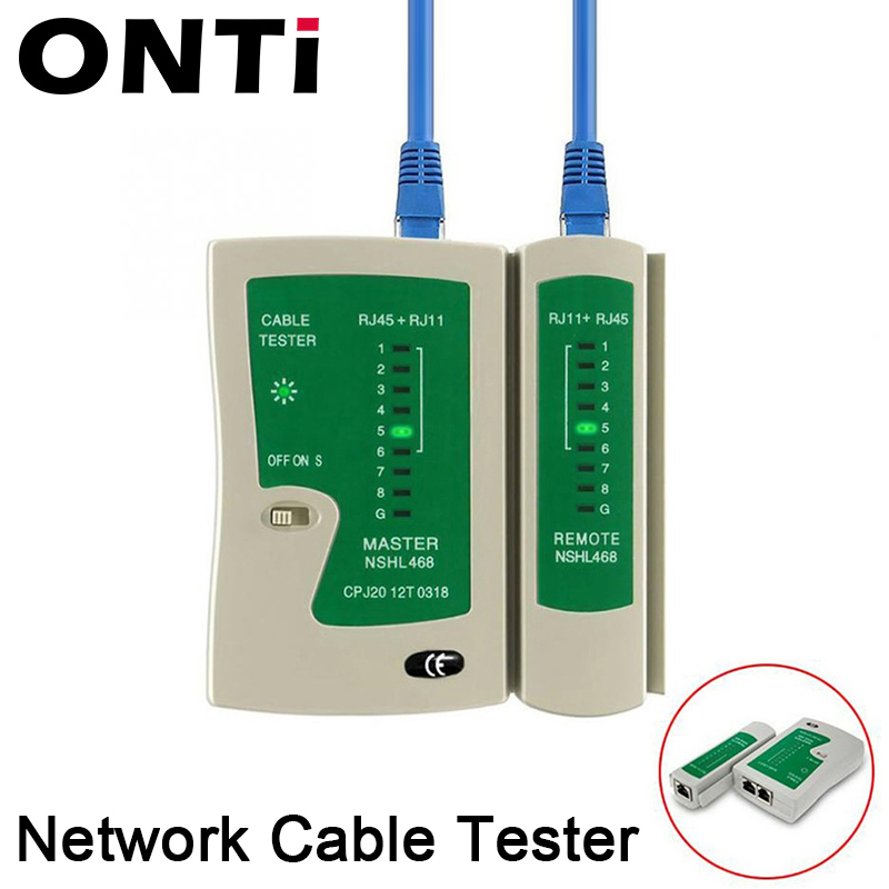 Professional Network Cable <font><b>Tester</b></font> <font><b>RJ45</b></font> RJ11 RJ12 CAT5 UTP <font><b>LAN</b></font> Cable <font><b>Tester</b></font> Networking Tool Handheld Wire Telephone Line Detector image