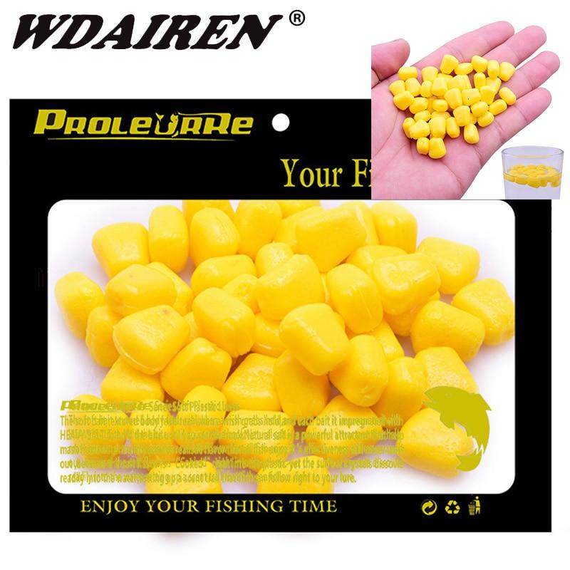 100 pièces Silicone maïs odeur appât doux flottant eau maïs carpe leurres de pêche avec lodeur de crème des appâts en caoutchouc artificiel