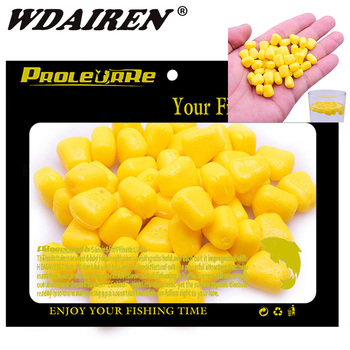 цена на 100pcs Silicone Corn smell Soft Bait Floating water corn carp Fishing Lures With the cream smell of Artificial rubber baits