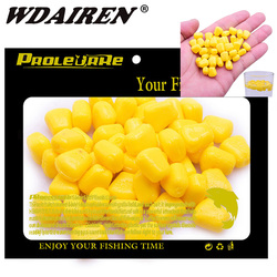 100pcs Silicone Corn smell Soft Bait Floating water corn carp Fishing Lures With the cream smell of Artificial rubber baits