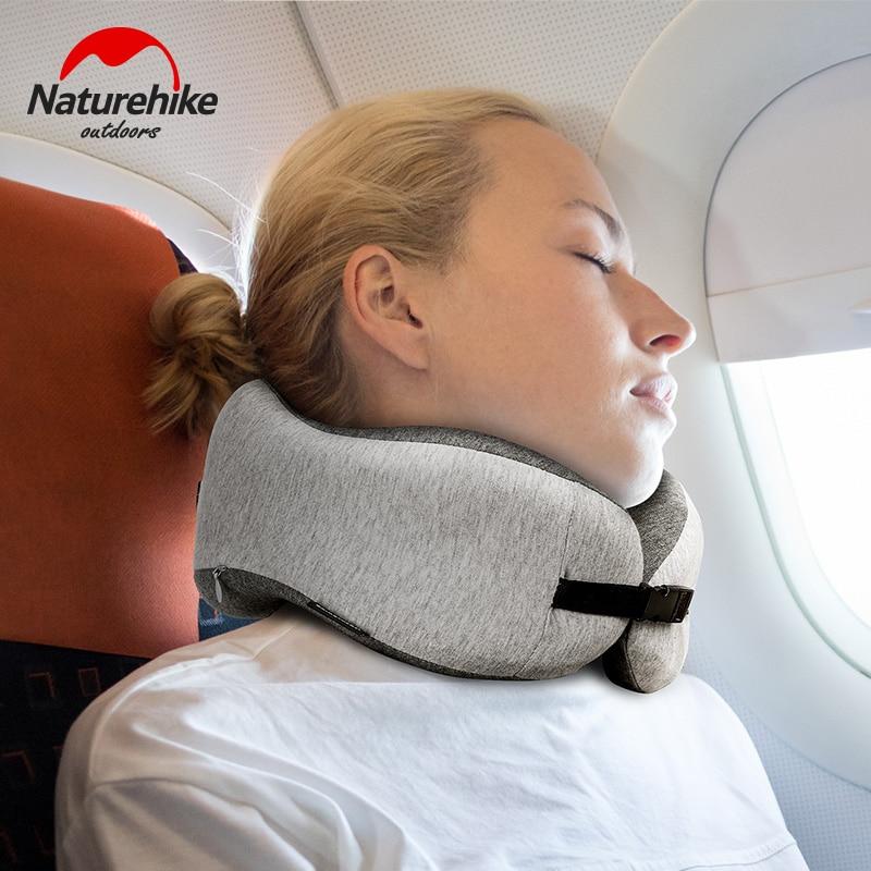 Naturehike 50D Memory Cotton Pillow Travel 0.3kg U Types Sleep Neck Pillow Portable Comfortable Pillows Office Rest
