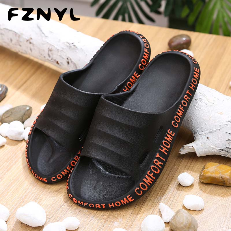 FZNYL 2020 New Arrival Fashion Slippers Men Comfortable Non-slip Outdoor Beach Casual Shoes Mens Women Flip Flops Slides 36-45