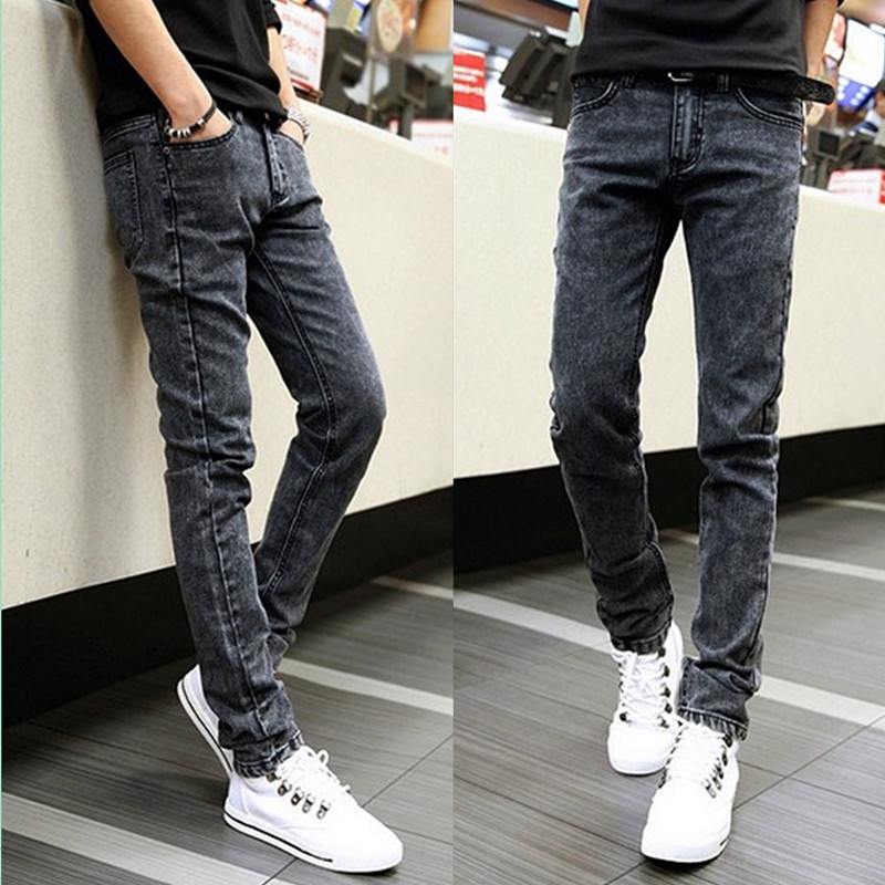 2019 Autumn And Winter New Style MEN'S Jeans Skinny Slim Fit Casual Pants Korean-style Youth Trend Men's Stretch Trousers