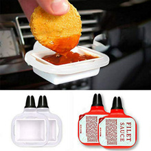 Saucemoto Dip клип в автомобиле соус держатель для кетчупа и окунания соусов барбекю соус поддержка Прямая поставка