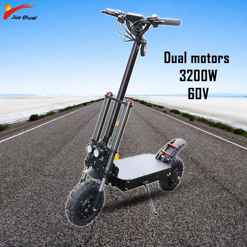 Electric Scooter <font><b>60V</b></font> 3200W off Road Electric Dual Motor Monopattino Elettrico <font><b>Samsung</b></font> Battery 100KM Patinete Eletrico e scooter image