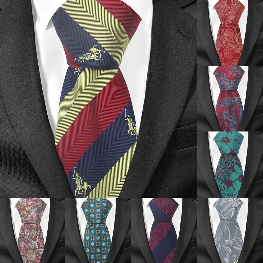 Fashion Striped Tie For Men Polyester Jacquard Skinny Neck Tie For Wedding Business Suits Classic Ties Slim Men Necktie Gravatas