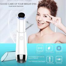 Electric Mini White Eye Massager Pen Anti-aging Remove Wrinkles Remove Dark Circles Eye Bags to Remove Vibration Thin Face electric eye massager remove eye pouch