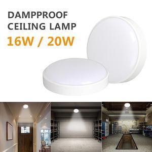 Светодиодная влагостойкая лампа IP65 холодный белый светильник Простая установка 16 Вт 20 Вт склад гараж кухня ванная комната потолочный свети...