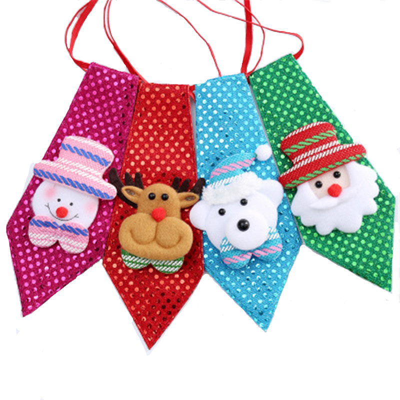 50pcs Pet Products Snowman Deer Pet Ties Shining Christmas Small Middle Dog Ties Holiday Grooming Bowtie Dog Accessories